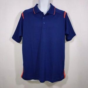 NWOT Antigua Royal Blue Orange Polo Shirt Large